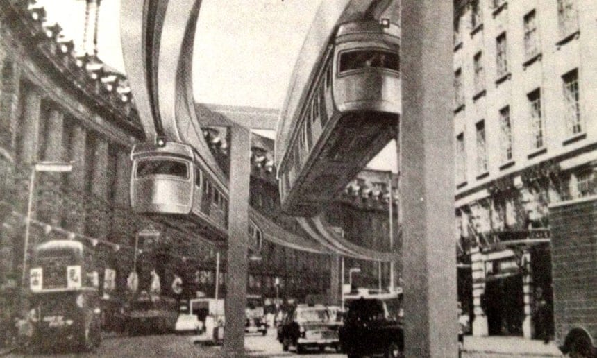 Original plan for Central London Monorail